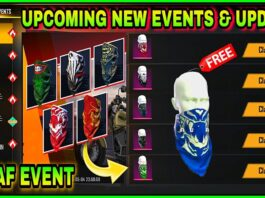 Free Fire Upcoming New Events ✔ || Get Free New Scarfs Skins || New Update - Garena Free Fire