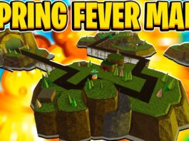 Destroying The Spring Fever Map in Tower Defense Simulator Roblox...