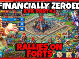 Lords Mobile| RALLIES ON FORTS - FINANCIALLY ZEROED KvK PART#2