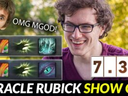 Miracle Rubick Stole CRITICAL ULTIMATE to win the game with Dendi Boss